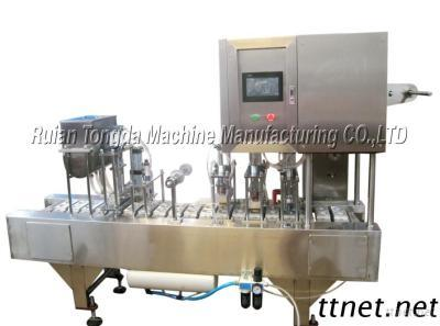 QCF-2 FPNEUMATIC TOUCH SCREEN WILD-MOUTH BOTTLE FILLING & SEALING MACHINE