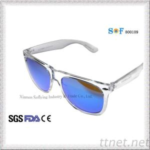 New Fashion Design Salable Unseix PC Clear Sunglasses With Revo Lens