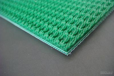 Green Rough Top PVC Conveyor Belt Bottom Low Noise/Slience