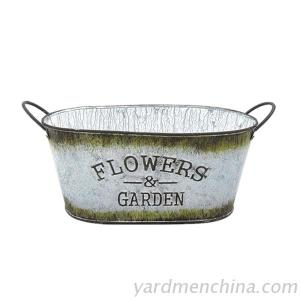 Cheapest antiqued metal flower pot from china supplier