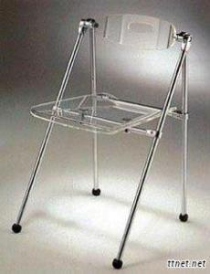 Folding Acrylic Chair - Transparent Color