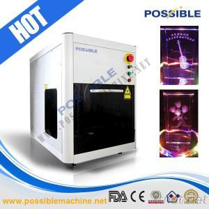Possible 532Nm Green Laser 2D/3D Crystal Engraving Machine