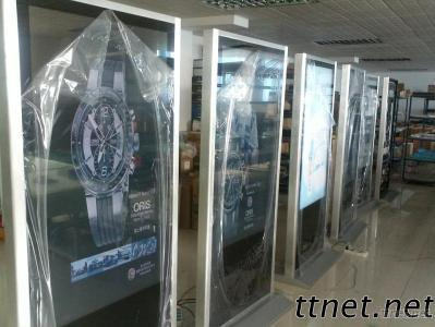 55 Inch Siliver Color Free Standing HD LCD Advertising Display