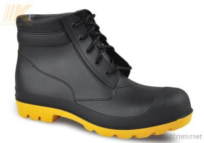 Black Lace up PVC Upper Steel S5 Safety PVC Boots