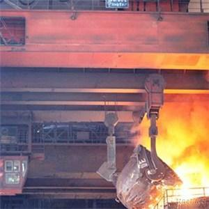 Double Girder Casting Crane, Double Hook, Used In Steel Plant
