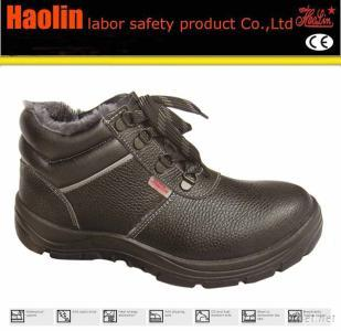 PU Outsole Steel Toe Anti Cold Black Industry Safety Shoes