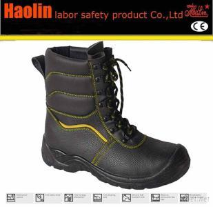 Ce Stand PU Outsole Steel Toe Embossed Leather Stylish Safety Shoes