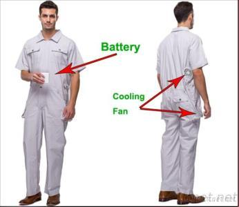 Work Wear With Automatic Cooling System Battery Cooling Clothing Outdoor Working OUBOHK