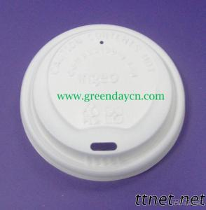PLA Compostable Coffee Cup Lids For Cold Hot Drinks