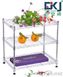 3-tier Chrome Plated Wire Shelving Rack