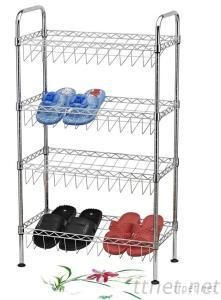 4 Tier Chrome Plated Wire Shoes Rack