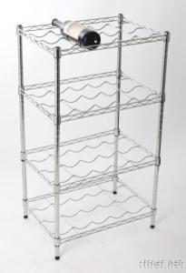 4-tier Chrome Plated Steell Wire Wine Rack