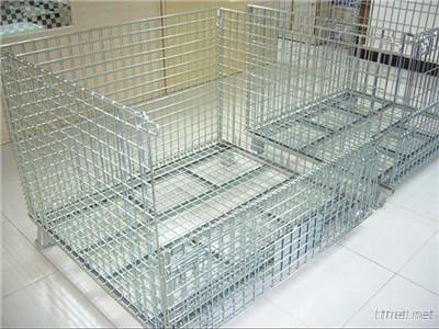 Collapsible Foldable Wire Container For Storage Solutions