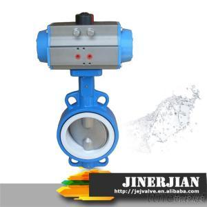 High Quality DN100 Butterfly Valves With Pneumatic actuator
