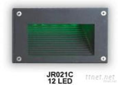 LED Exterior Grey Plug in 12 LED Wall Light Lamp