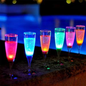Liquid Active Glow Party LED Flashing Cup Champagne Glass