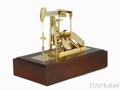 Diecast Oil Pumping Unit Model With Music Box