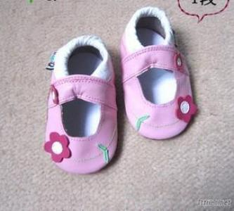 Girl Toddler Shoes With Peta,l Baby Leather Shoes