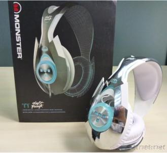 Monster TRON T1 Headphones Beats By Dr Dre For Computer Game With Control Talk