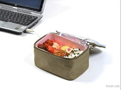 Supply The Latest New Product USB Insulation Heated Lunch Bag With Icy Fresh Bag Two Features Into One