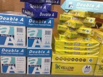 Double A And IK Yellow Multipurpose Copy Paper A4 210Mm X 297Mm, Letter & Legal Sizes 80Gsm 75Gsm 70Gsm 100% Wood Pulp Photo Copy Papers