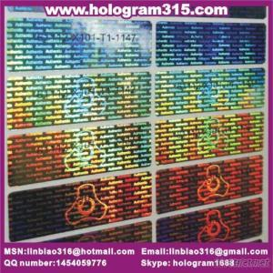 New Customized High-Tech Multi-Color Laser Hologram