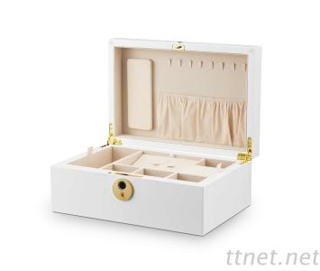 Fingerprint Jewelry Keeping Box Fashionable Gift For Necklaces, Rings, Bracelets Highly Protective, Private