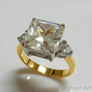 Princess Cut CZ Engagement Ring