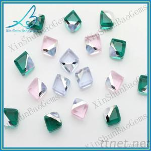 Hot sale various colors cubic crystal stone