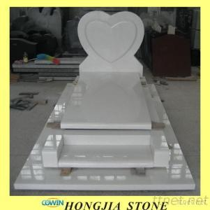 China White Marble Headstone Monument Tombstone Gravestone Memorials