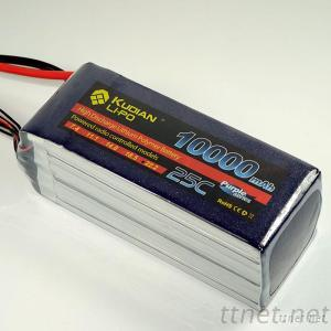 Kudian Li-Po 10000Mah Rc Lipo Battery For Mikrokopter Aircraft 6S 22.2V 25C For DJIS800 For Six Axis With XT60 Connector