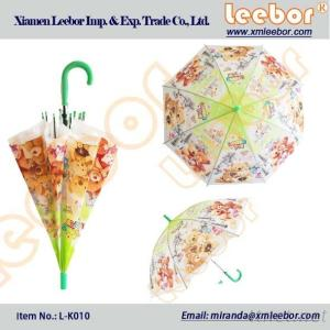The Cheaper Poe/PVC Clear Childrens/Kids Umbrella with Whistle/ L-K010
