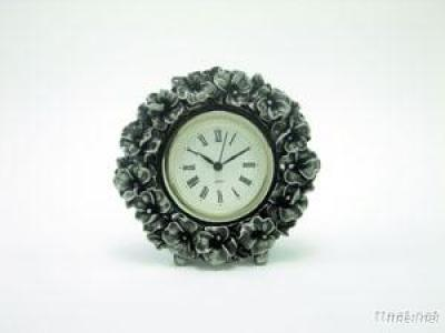 Pewter Flower Clock