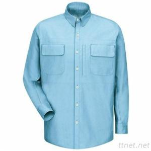 BIFLY Flame Resistant Long Sleeve Chambray Shirt