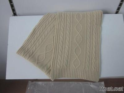 Cable Knitting Cashmere Scarf