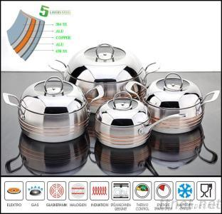Best Selling 5Ply Stainless Stock Pot
