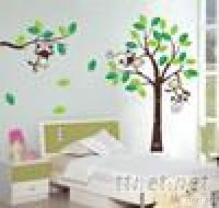 GL-M Large Size Monkey Design Removable Clean Wall Sticker
