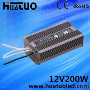 Aluminum Shell Water-Proof'S Model 12V 16.6A 200W Power Supply For LED Strip Advertising