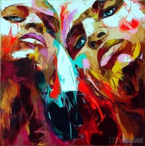 Abstract Knige Painting Of Two People
