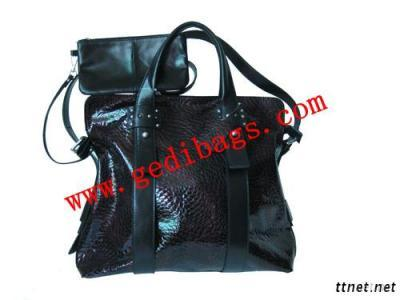 Lady Handbags With Pu ,Pvc Leather