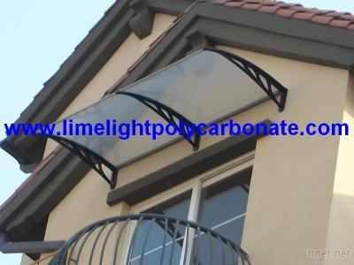 Polycarbonate Window Awning, DIY Awning, Window Canopy, Polycarbonate Canopy, Door Awning, Rain Shelter, DIY Kits Awning, Door Roof Canopy