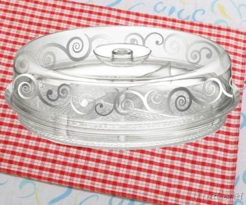 Round Tray With Divider