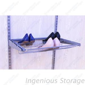 Platinum Gliding Shoe Rack Shelves for Wire Shelving Closet