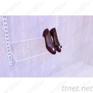 White Single Shoe Rack For Heels In Metal Wardrobe