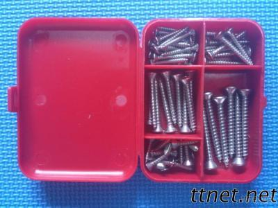 58 Piece Assorted Stainless Steel Phillips Sheet Metal Oval Head Screws