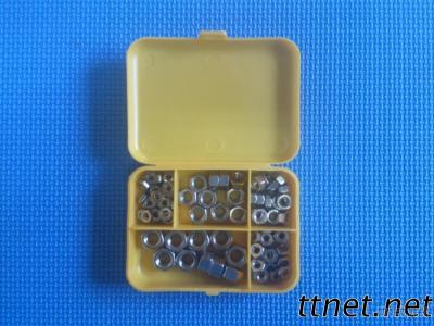 80 Piece Assorted Stainless Steel Hex Nuts