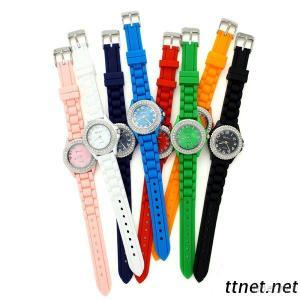Silicone Diamond Fashion Sport Jelly Watch