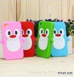 Fashion Silicone Penguin Phone Case For IPhone