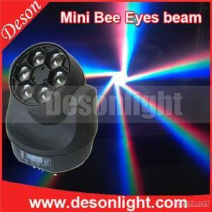 6Pcs 15W RGBW 4IN1 Mini Beam Bee Eye LED Moving Head Beam Light