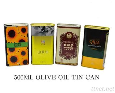 Edible Oil Packaging Container, Empty Tin Can